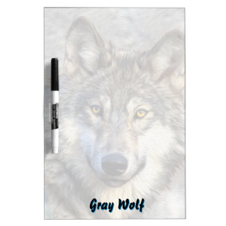 Gray Wolf Dignity Dry Erase Board