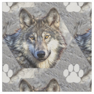 Gray Wolf Dignity Fabric