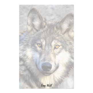Gray Wolf Dignity Stationery