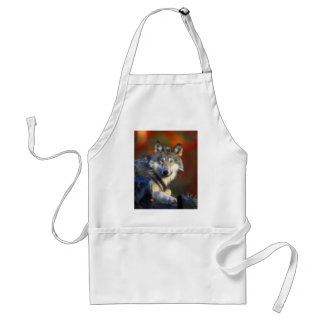 Gray Wolf, Endangered Species Digital Photography Standard Apron