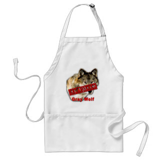 Gray Wolf Endangered Species Products Apron