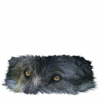 GRAY WOLF EYES sculpted Wildlife Gift Item Cut Out