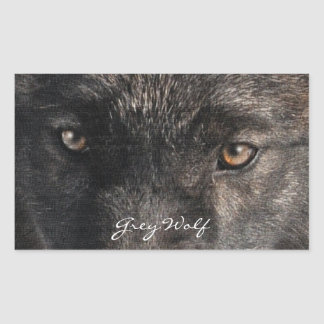 GRAY WOLF EYES Wildlife Supporter Stickers