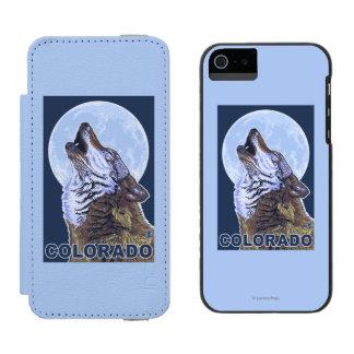 Gray Wolf HowlingColorado Incipio Watson™ iPhone 5 Wallet Case