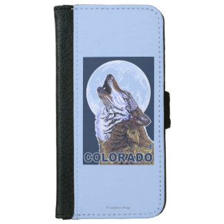 Gray Wolf HowlingColorado iPhone 6 Wallet Case