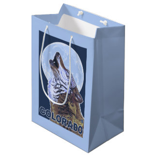 Gray Wolf HowlingColorado Medium Gift Bag