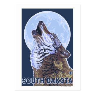 Gray Wolf HowlingSouth Dakota Postcards