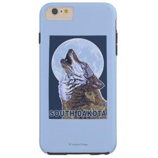 Gray Wolf HowlingSouth Dakota Tough iPhone 6 Plus Case