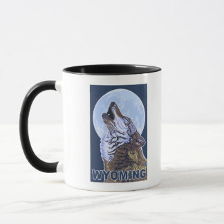 Gray Wolf HowlingWyoming Mug