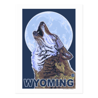 Gray Wolf HowlingWyoming Postcard