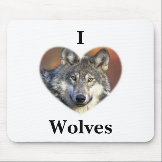 Gray Wolf Mouse Mat