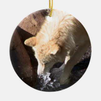Gray Wolf Ornament ~ Endangered Species Series