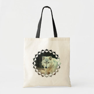Gray Wolf Small Canvas Bag