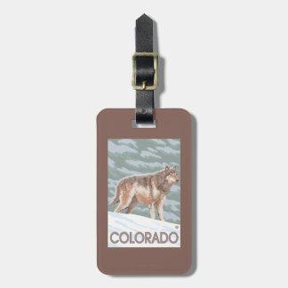 Gray Wolf StandingColorado Luggage Tag