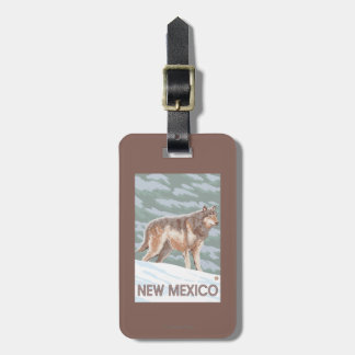 Gray Wolf StandingNew Mexico Luggage Tag
