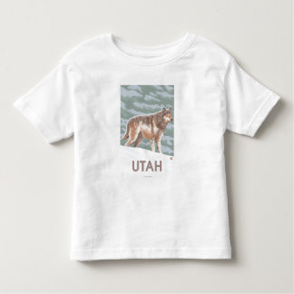 Gray Wolf StandingUtah Toddler T-Shirt