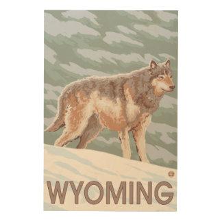 Gray Wolf StandingWyoming Wood Wall Art