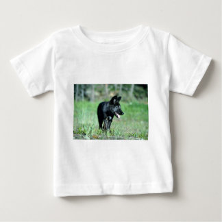 Gray Wolf-summer-(black-phase) cub Baby T-Shirt