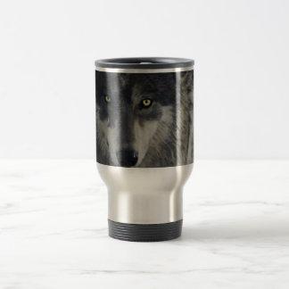 GRAY WOLF Wildlife Supporter Gift Travel Mug