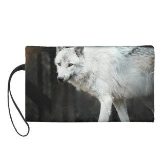 Gray Wolf Wristlet Purse