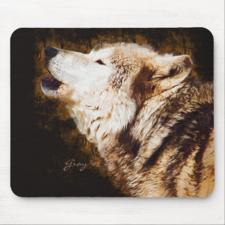 Gray Wolves of Yellowstone Mouse Mat