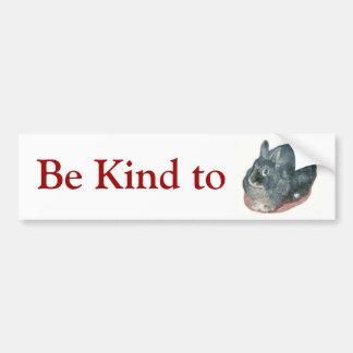 Gray Wooly Rabbit Bumper Sticker