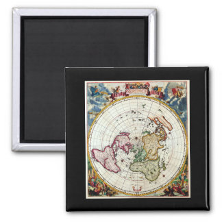 Gray World Map 6_Maps of Antiquity Square Magnet
