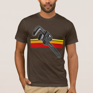 Gray wrench with red orange and yellow stripes T-Shirt