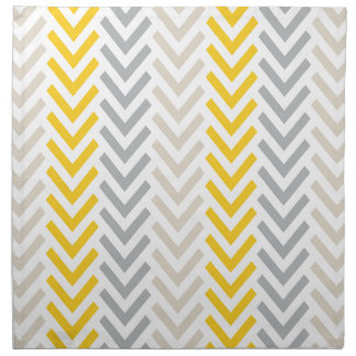 Gray & Yellow Chevron Napkin