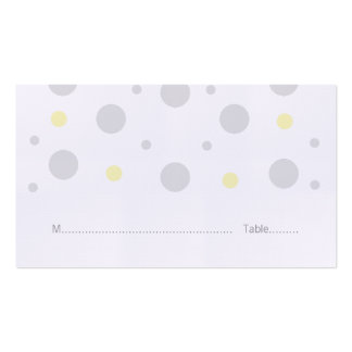 Gray Yellow Confetti Wedding Place Cards Pack Of Standard Business Cards