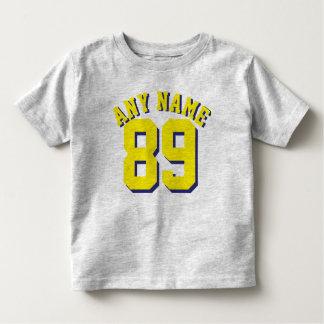 Gray & Yellow Toddler   Sports Jersey Design Toddler T-Shirt