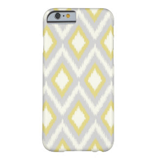 Gray & Yellow Tribal Ikat Chevron Barely There iPhone 6 Case