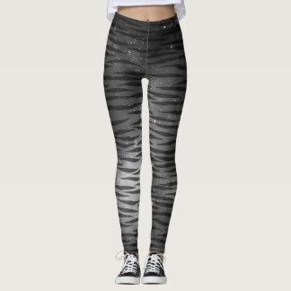 Gray zebra galaxy legging
