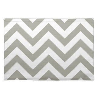 Gray Zig Zag Chevrons Pattern Placemat