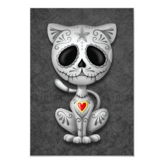 Gray Zombie Sugar Kitten Cat 9 Cm X 13 Cm Invitation Card