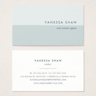 Grayed Jade | Modern Colorblock Business Card