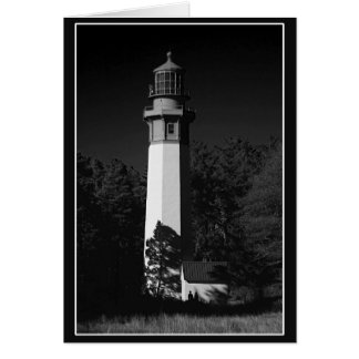 grays harbor lighthouse, westport, washington, usa card