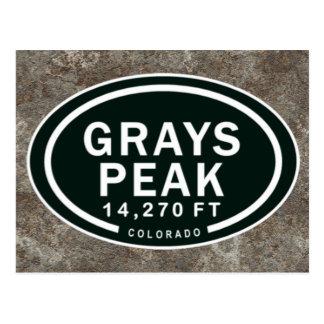 Grays Peak 14 270 FT CO Mountain Postcard