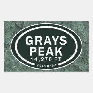 Grays Peak CO 14,270 FT Colorado Rocky Mountain Rectangular Sticker