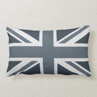 Grayscale England Flag Lumbar Cushion