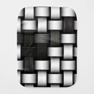 Grayscale knitted background baby burp cloths