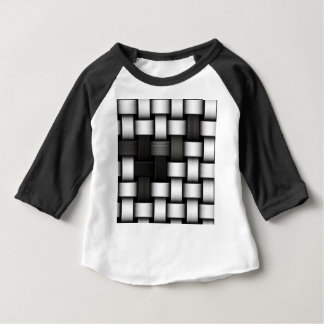 Grayscale knitted background baby T-Shirt