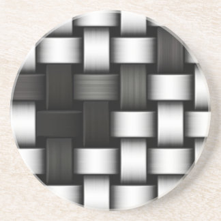 Grayscale knitted background coaster