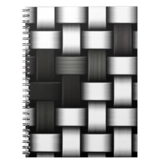 Grayscale knitted background notebook