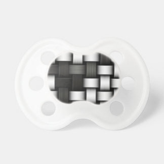 Grayscale knitted background pacifier
