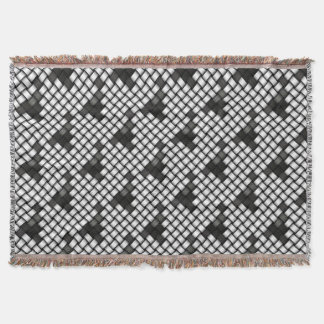 Grayscale knitted background throw blanket