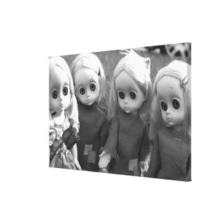 Grayscale Little Miss No Names Gallery Wrap Canvas