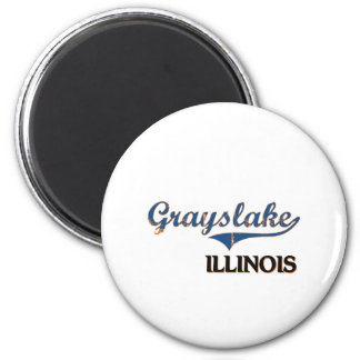 Grayslake Illinois City Classic 6 Cm Round Magnet