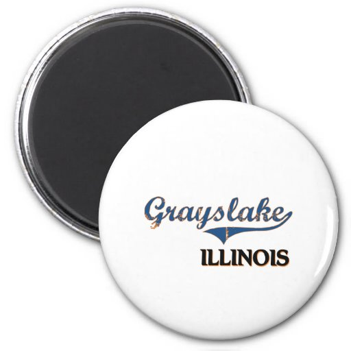 Grayslake Illinois City Classic Magnets