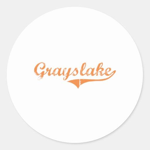 Grayslake Illinois Classic Design Sticker